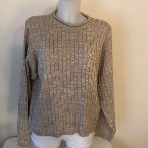 Talbots size XL  tan longsleeve sweater